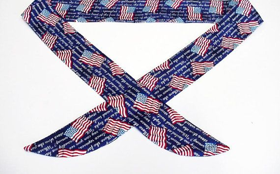 Patriotic Neck Cooler Cool Tie Neck Wrap Keep Cool By Iycbrand