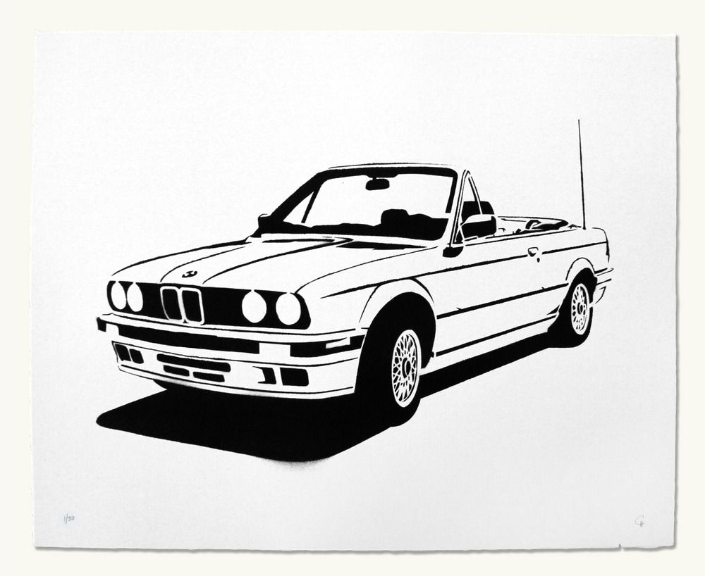 bmw e30 convertible dessins noir et blanc pinterest voiture. Black Bedroom Furniture Sets. Home Design Ideas