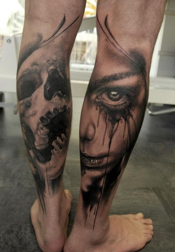 Florian Karg Tattoo Art Project Tattoo Tattoos Calf Tattoo