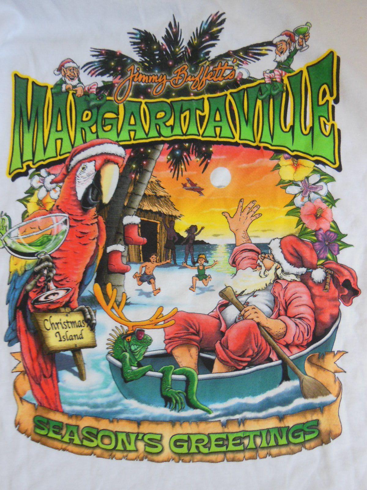 Never Worn Jimmy Buffett Long Sleeve Margaritaville Christmas Island ...