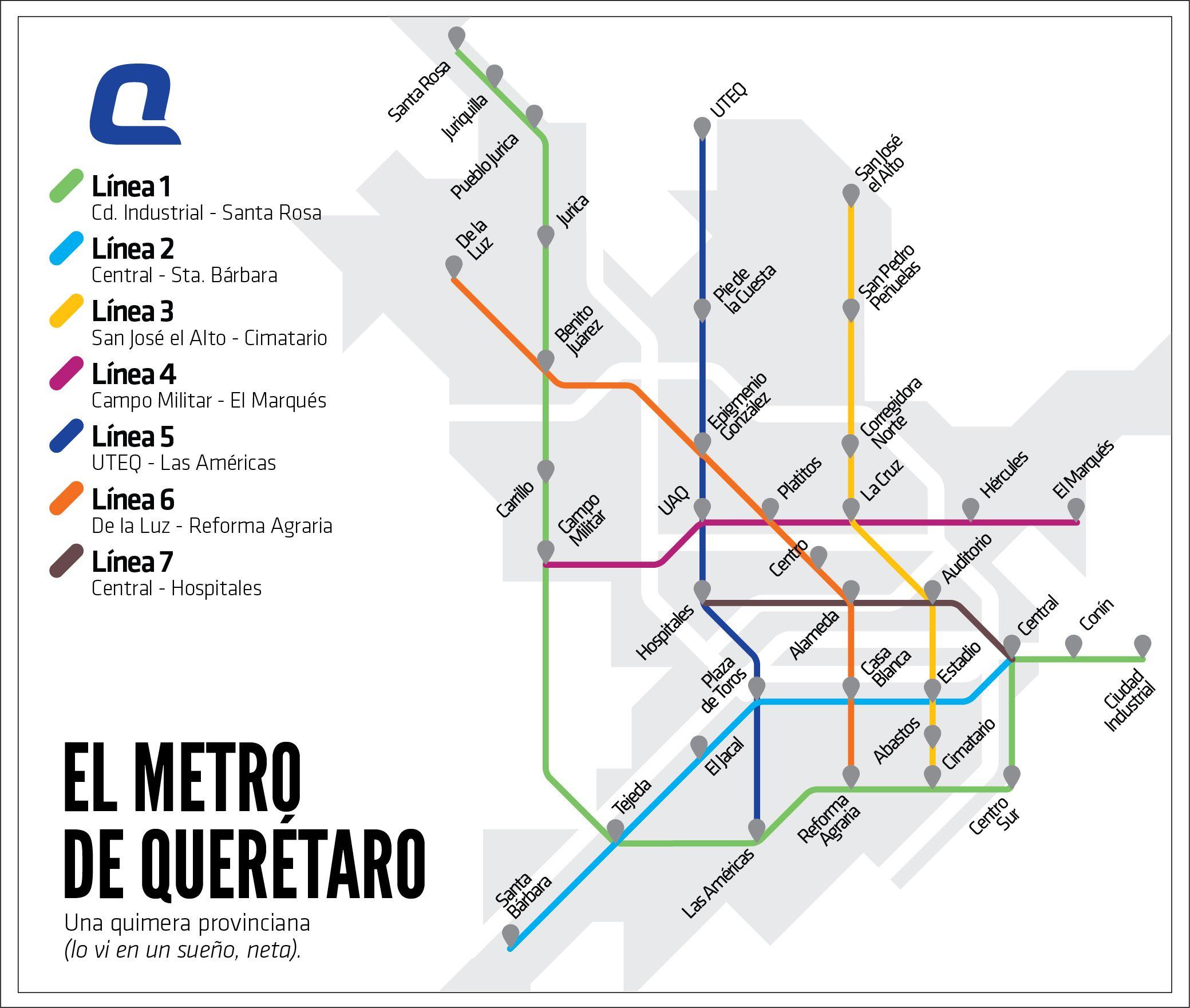 Resultado de imagen para Querétaro mapa metro