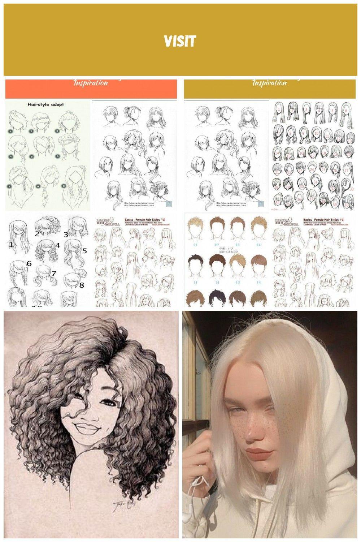 34 Ideas Drawing Hair Tutorial Anime For 2019  cabelos Anime cabelos Anime