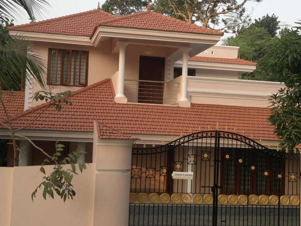 Elevation-0076   Kerala Home Elevations in 2019   House ...