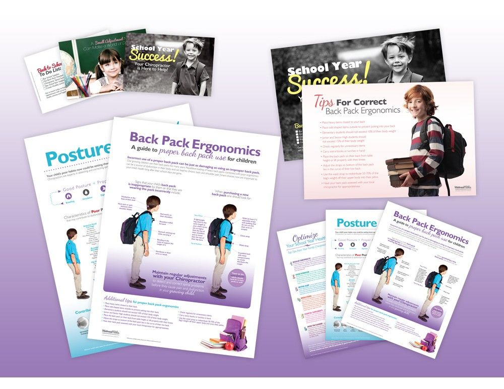 This back to school package contains all the essential items for your school year educational campaign. Use these posters, handouts and postcards in combination to create awareness on how chiropractic can help parents and children during this busy time of year. Save $35.70 USD compared to buying these products individually.