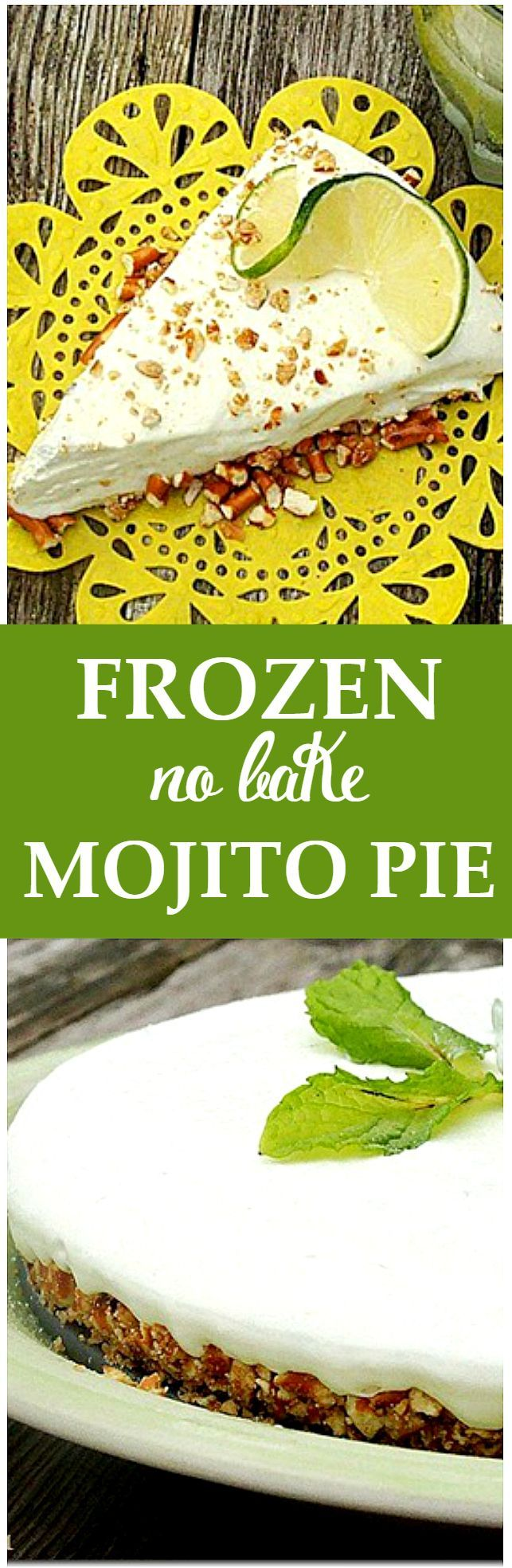 Frozen Mojito Pie - Inspired by the classic drink, this recipe for Frozen Mojito Pie is a must make, again and again!