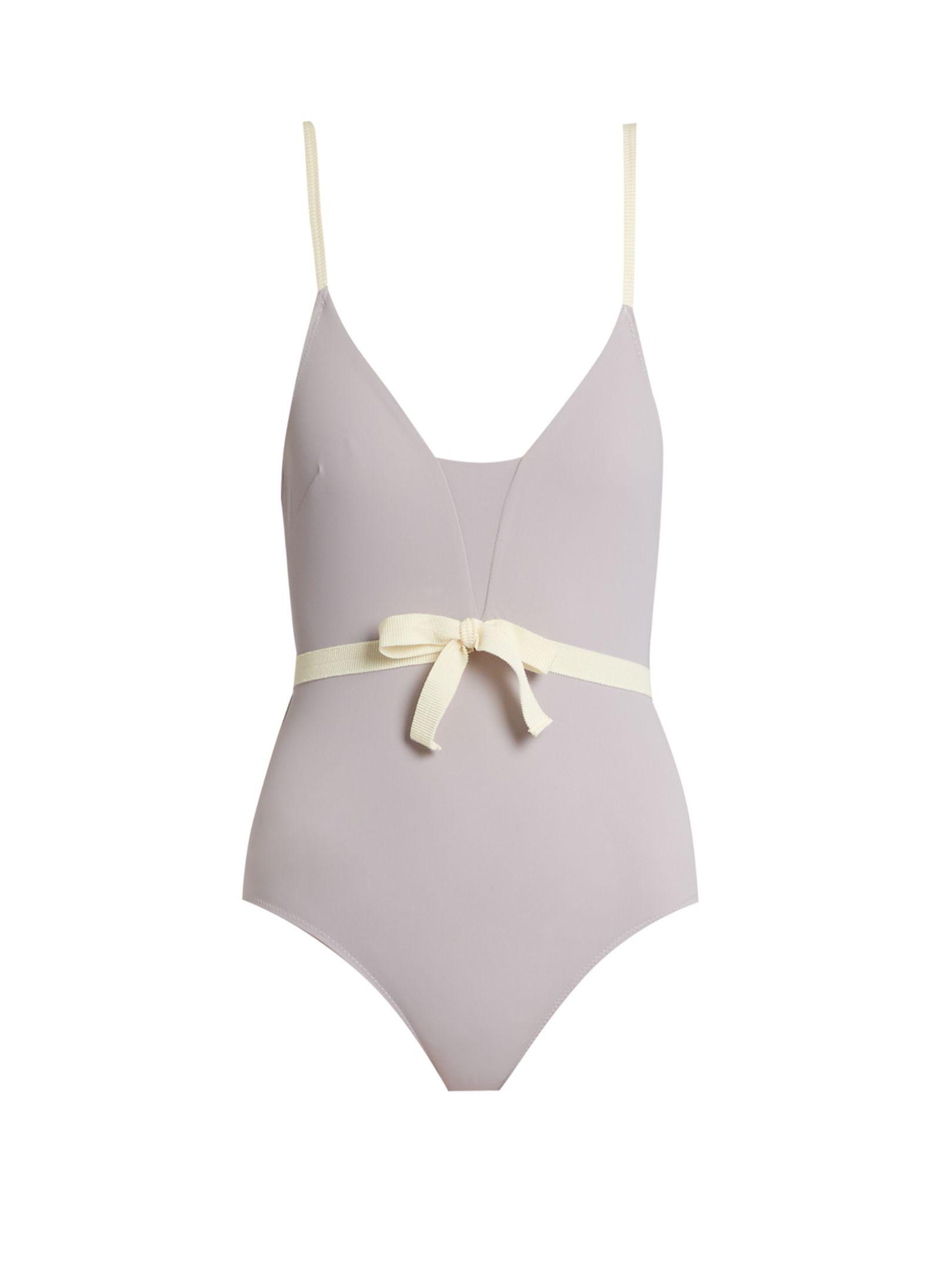 Waist Bow Swimsuit Roxana Salehoun Matchesfashioncom Lingeri3