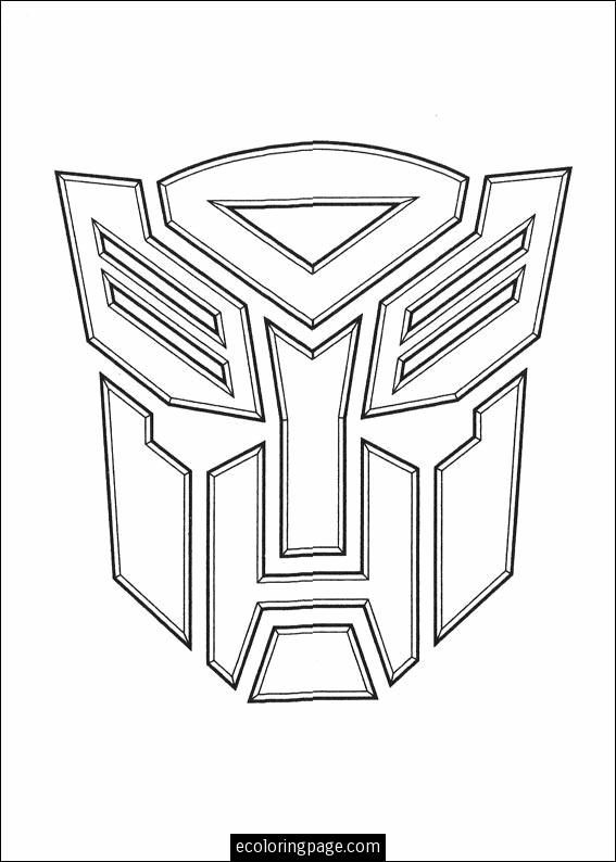 transformers logo coloring page printable | ecoloringpage.com ... - Optimus Prime Face Coloring Pages
