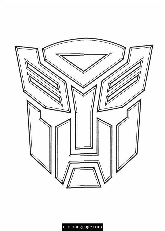 Transformers Logo Coloring Page Printable Ecoloringpage Com