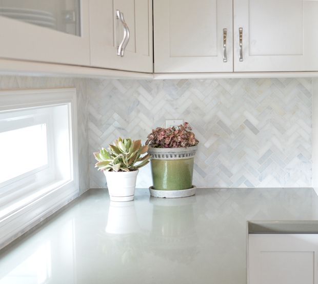 Sage Green Cabinets Marble Counters Subway Backsplash: My Brother's Kitchen Remodel