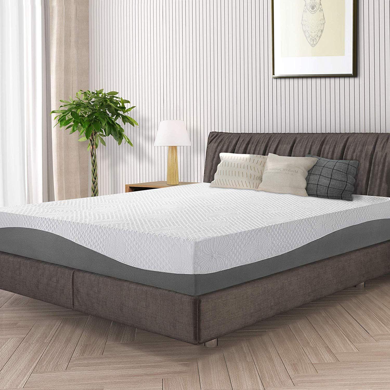 Olee Sleep 10 Inch Grey I Gel Layer Top Memory Foam