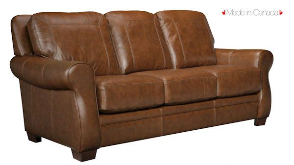 Made In Canada Leather Sofa By Leathercraft