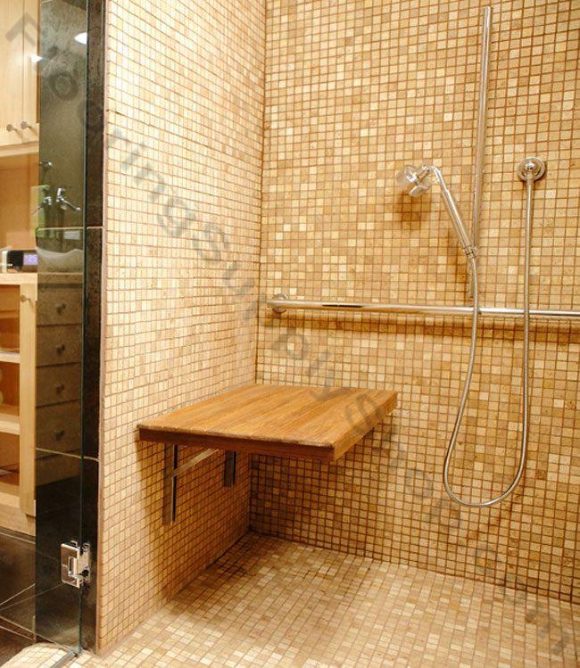 Shower Furniture / Teak Shower Bench / Teak Wall Mount