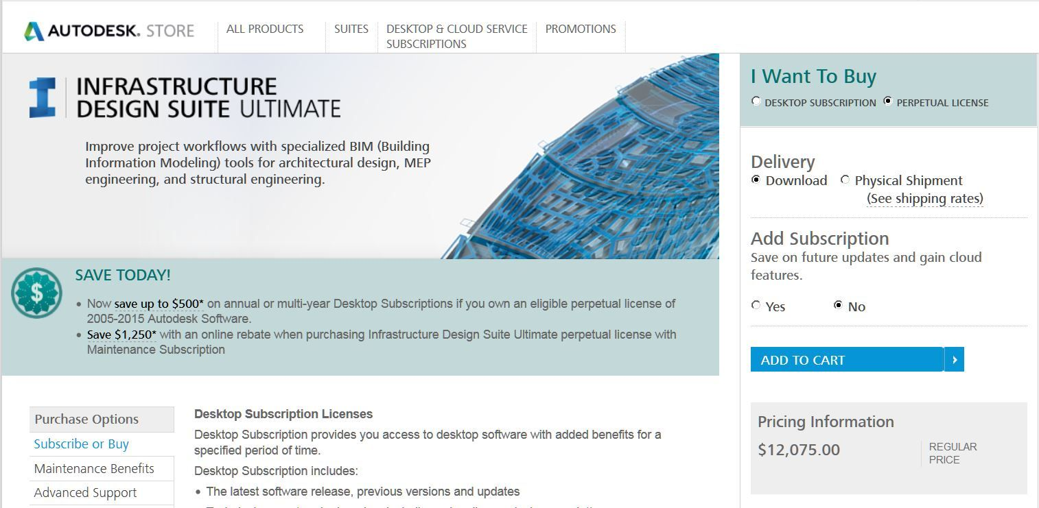 Autodesk Autocad Infrastucture Design Suite Ultimate Retail 12 075 00 Improve Building Information Modeling Structural Engineering Design Suites