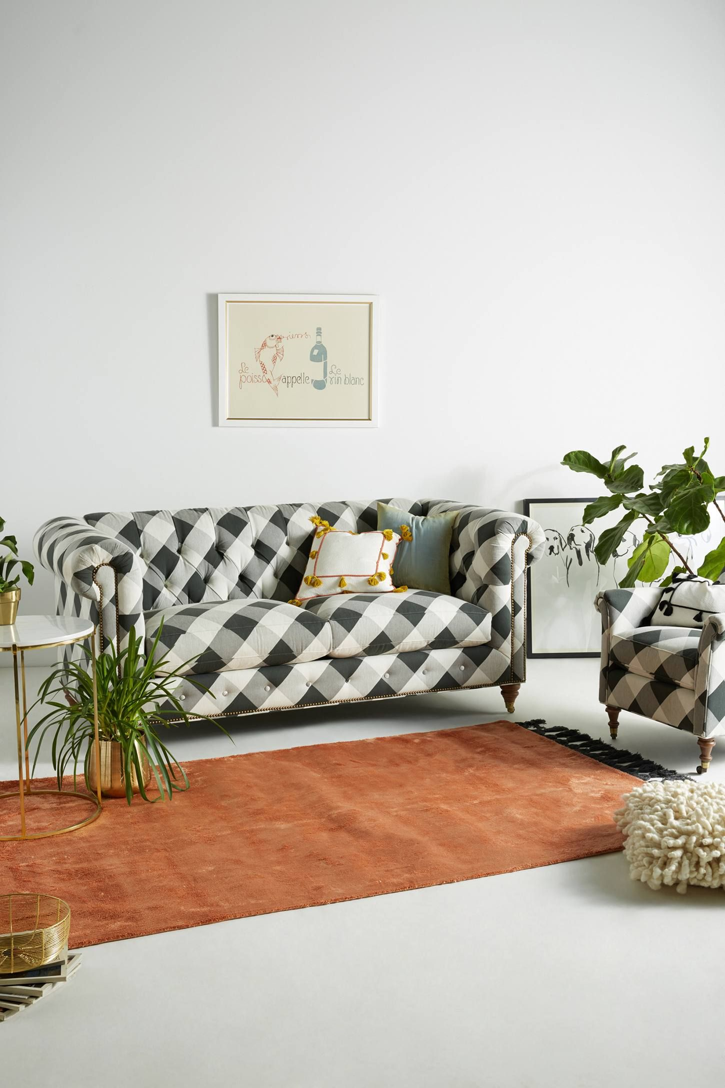 Sofa And More Site Da E Colchoes Buffalo Check Lyre Chesterfield Two Cushion Decor The Shop Anthropologie At Today Read Customer Reviews Discover Product Details