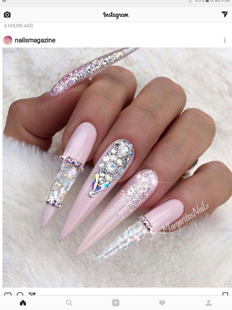 pearls #and #caviar | Rhinestones Nails | Pinterest | Caviar, Bling ...