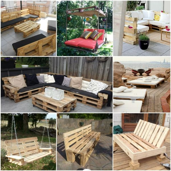 Gartenm bel aus paletten selber bauen und den au enbereich for Europaletten sitzlounge