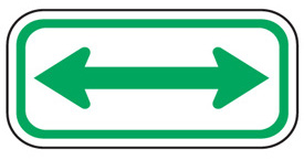 Double Arrow Sign Parking Signs Sticker Sign Arrow Signs