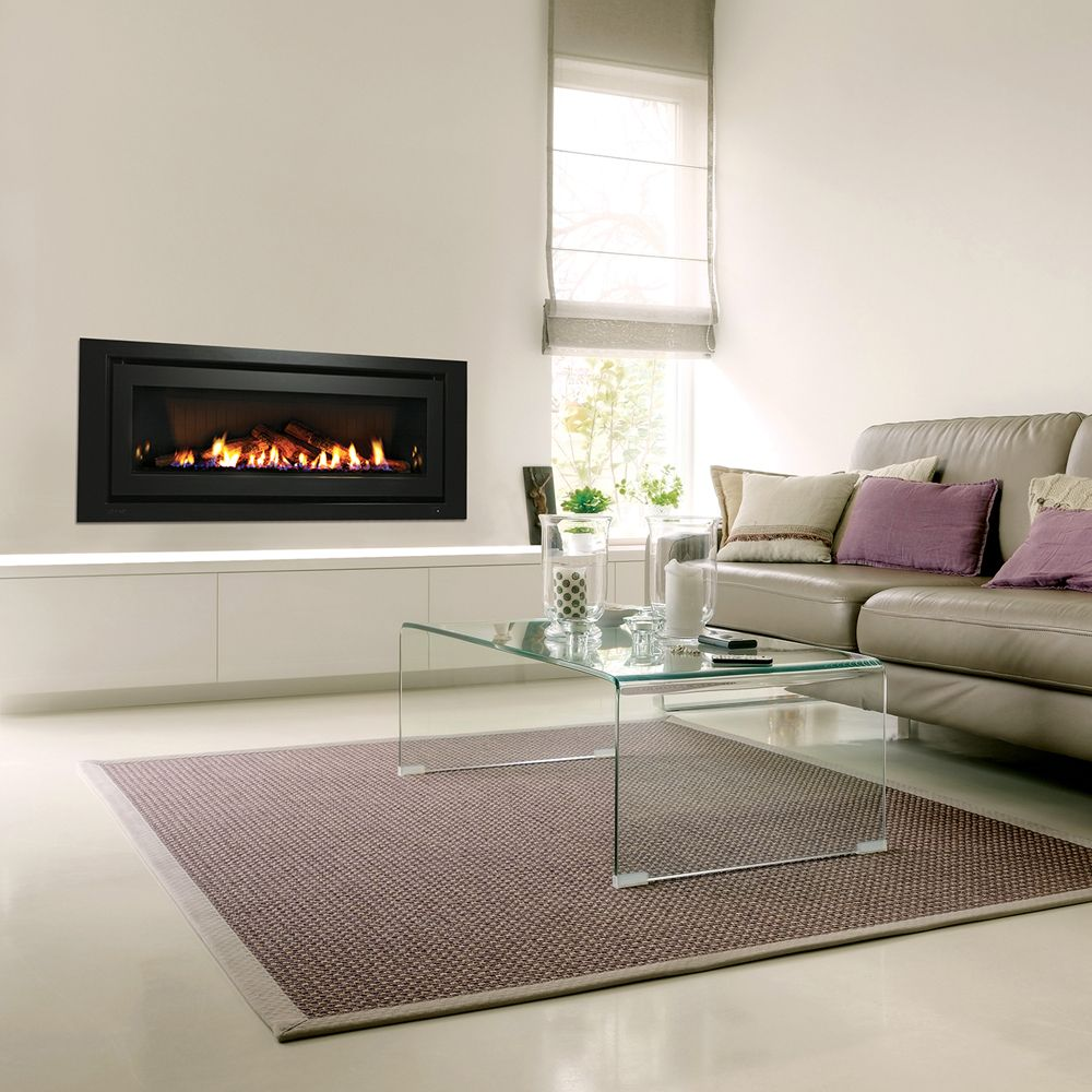 Rinnai Evolve 1250 Our Widest And Most Efficient Fire The Evolve 1250 Can Be Personalised To Wall Mount Electric Fireplace Gas Fireplace Logs Modern Flames