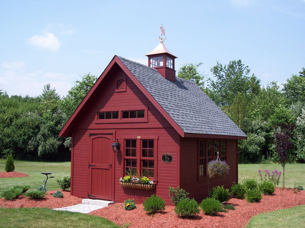 shed plans school house garden shed keep the red do white trim or do white with a red front door now you can build any shed in a weekend even - Garden Sheds Massachusetts