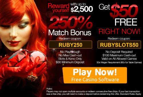 Ruby slots promo no deposit