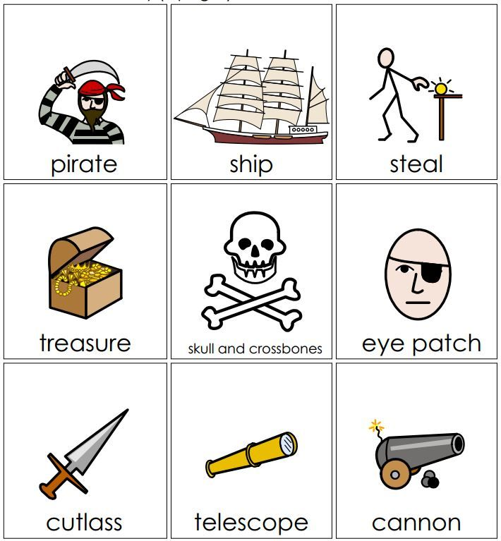 Create Vocabulary Worksheets : A host of resources including illustrated pirate