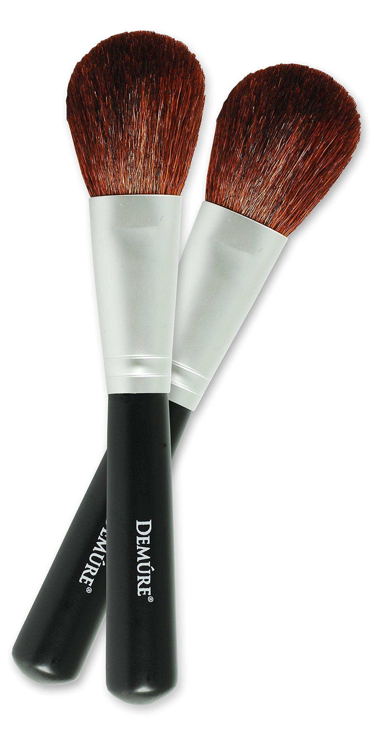 Natural Goat's Hair Blush Brush by Demure Cosmetics, Two
