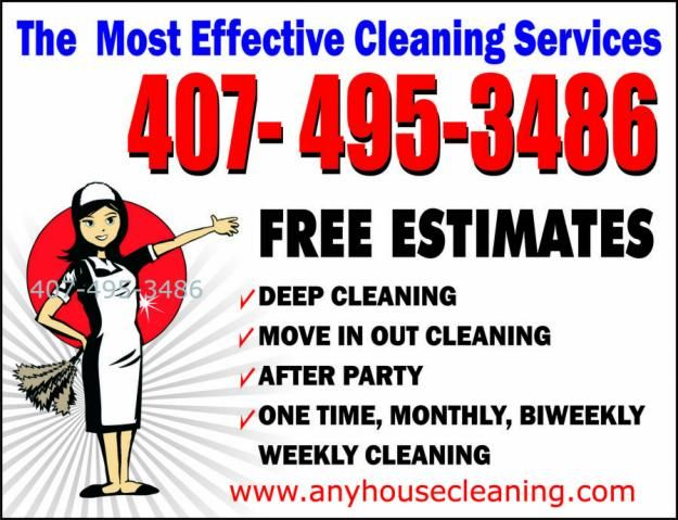 House Cleaning Services Garden Orlando House Cleaning Services - house cleaning flyer