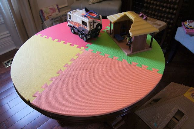 Diy Table Protector From Interlocking Play Mats Diy Diy