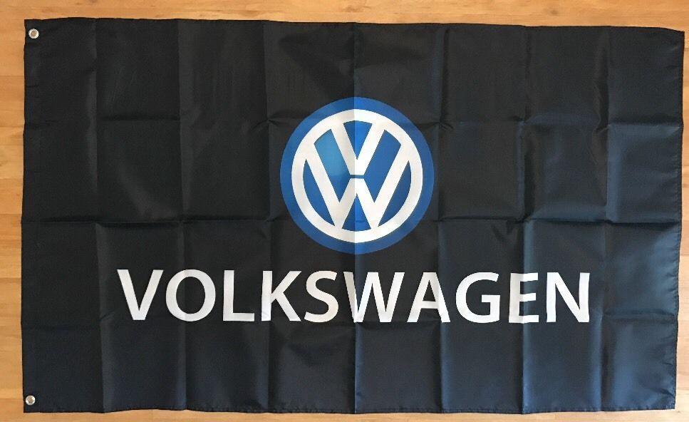 Volkswagen Service Flag Banner 3X5FT
