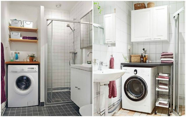 Lavadora en el ba o via miblog viviendas interiores pinterest ba o v as y cuarto de ba o - Lavadora en el bano ...