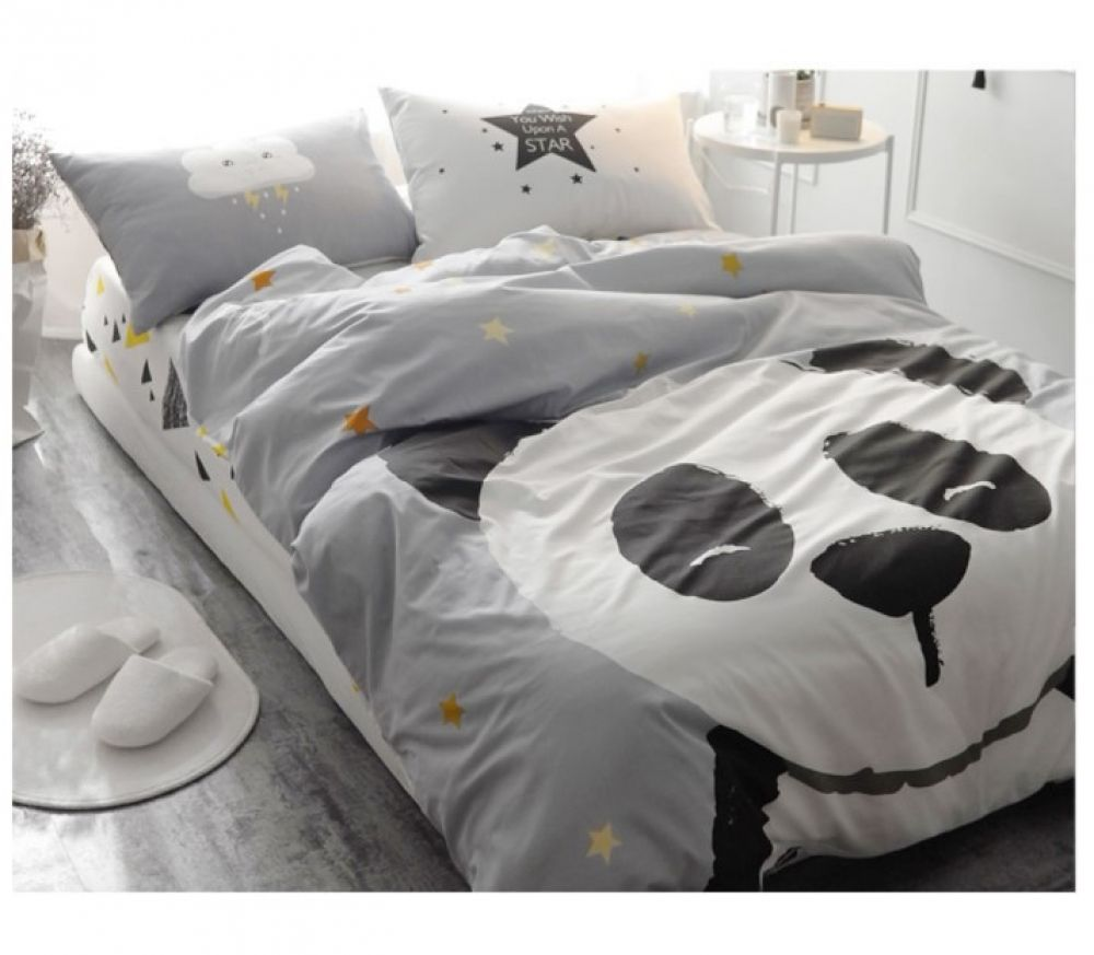 Kid S Sleeping Panda Cotton Bedding Set With Images Bedding