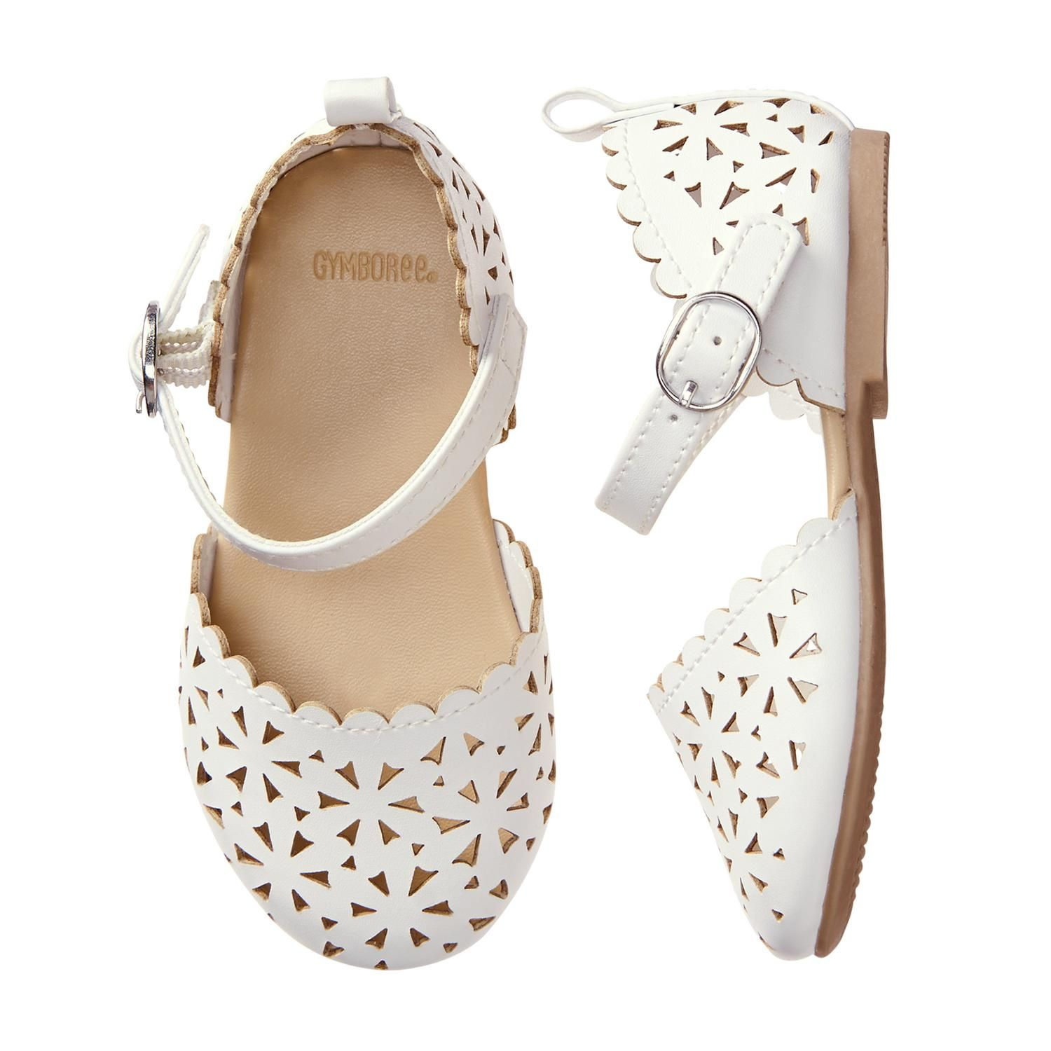 Accessories White Eyelet Flats by