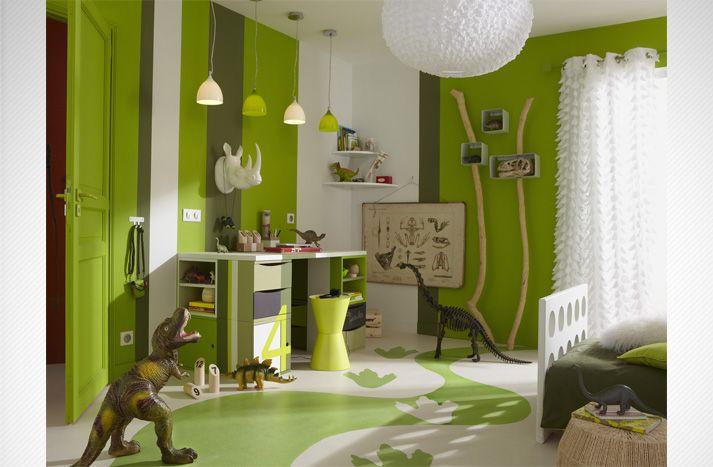 chambre d\u0027enfant vert gazon Idées deco Pinterest Decorative