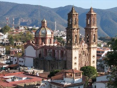 The basilica in Taxco. Amazing inside and out. Most everything inside was covered in gold leaf!