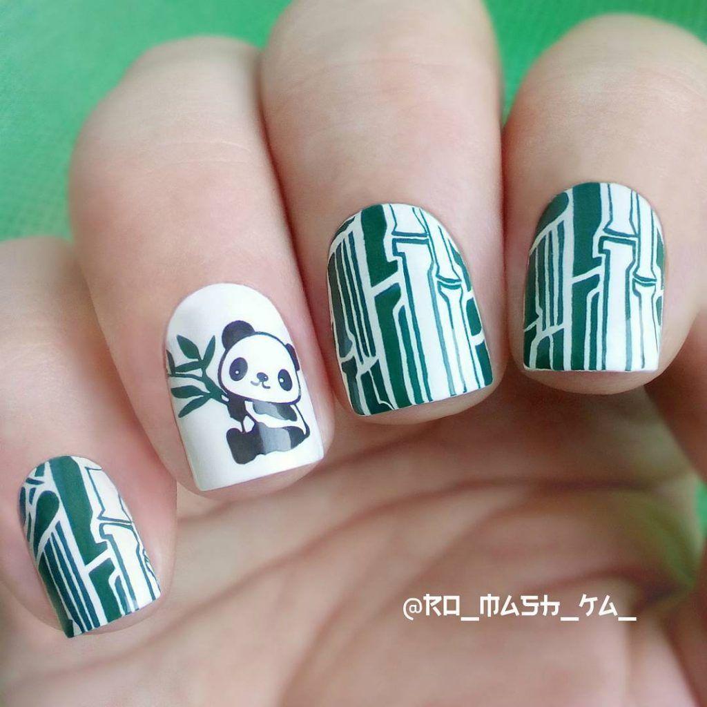 69 Cute Panda Nail Art Designs Trends 2018 Art Design Nails