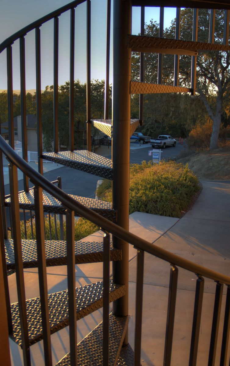Best Exterior Deck Spiral Stair Ca With Images Floating 640 x 480