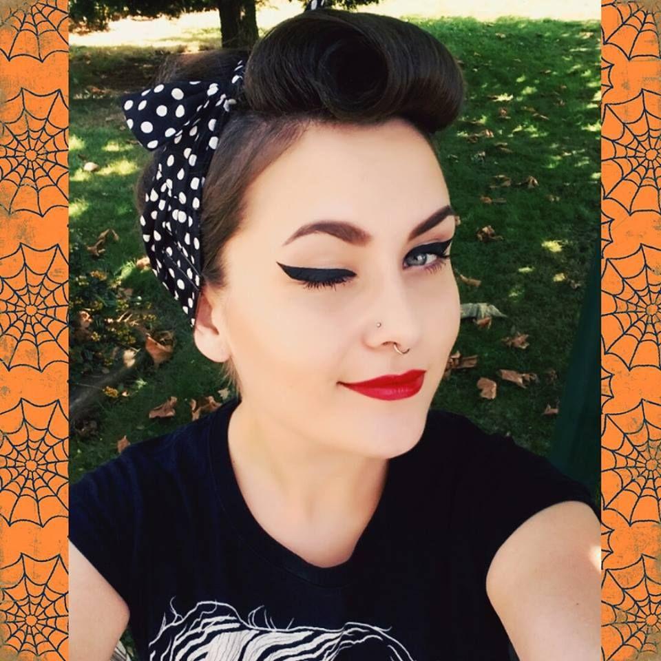 retro hair pin up lady rockabella rockabilly girl
