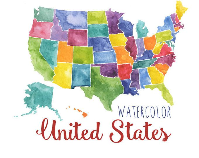 23++ United states of america map clipart info