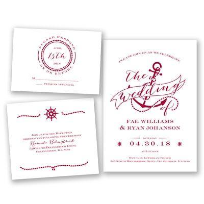 Set Sail For Love Bundle Basic Apple Invitations By David S Brid Nautical Wedding Invitations Inexpensive Wedding Invitations Exclusive Wedding Invitations