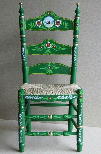 Silla andaluza seats pinterest sillas decoraciones for Sillas para viejitos