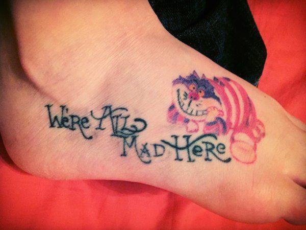 100 best alice in wonderland tattoos chest piece for Small alice in wonderland tattoos