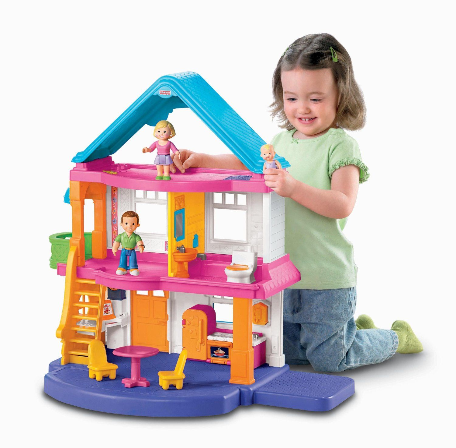 Amazon Fisher Price My First Dollhouse Caucasian Family