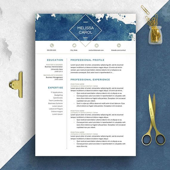 Enjoy this Bundle of TWO Modern Millennial styles -- Clean - one page resume or two