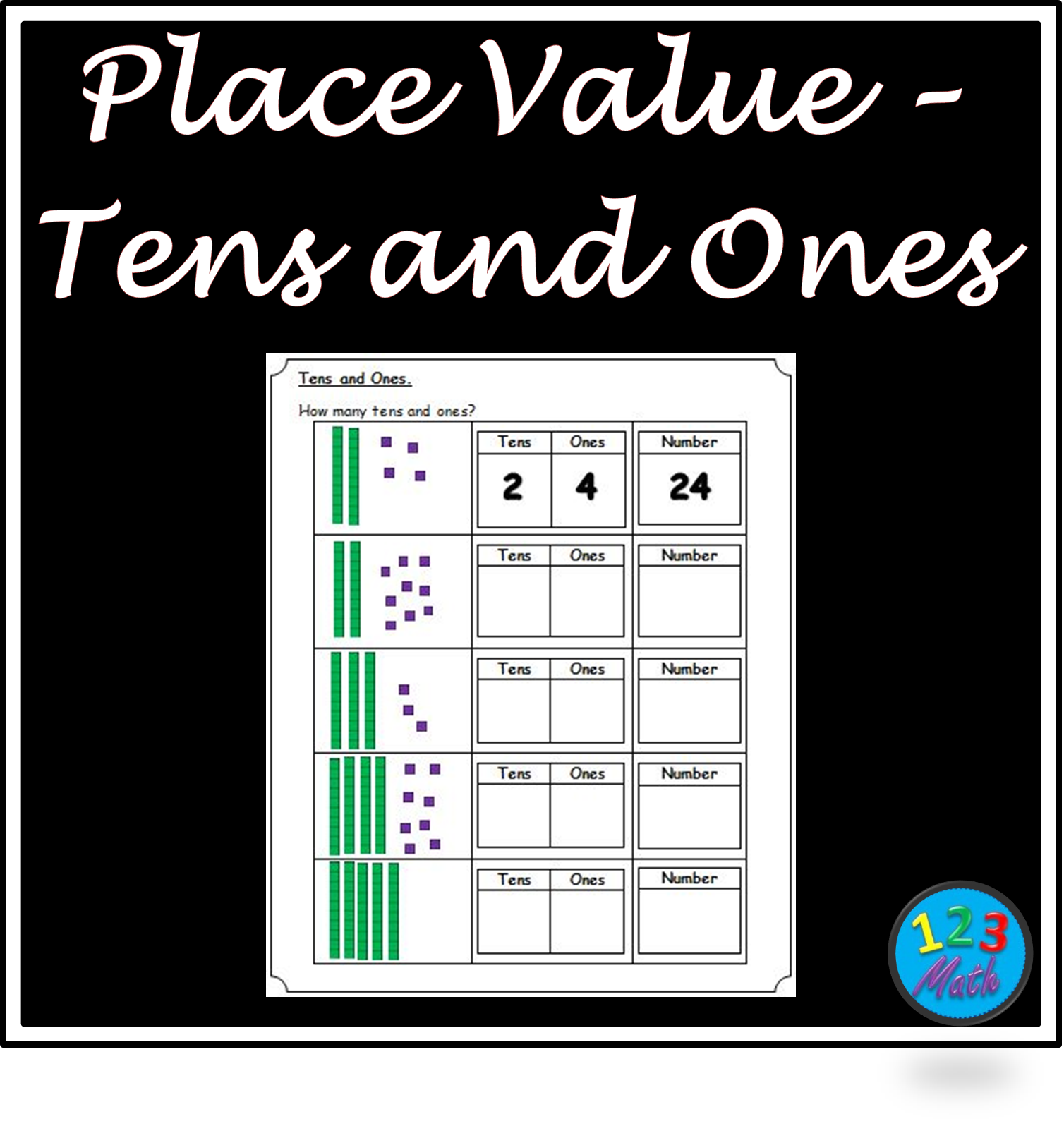 Place Value Tens Ones Worksheets Tens And Ones Worksheets Tens And Ones Place Values [ 1603 x 1508 Pixel ]