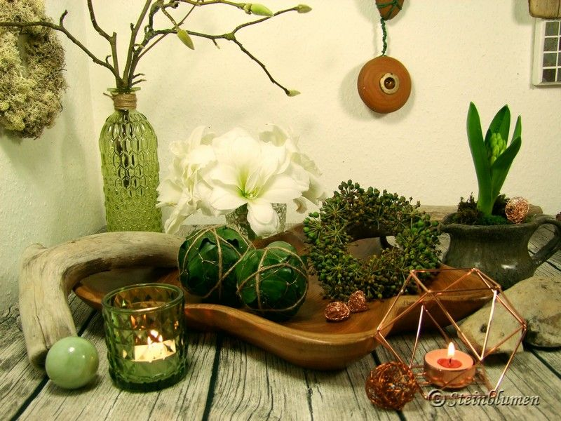 Weisse Amaryllis Und Frostige Schonheiten Meine Blumendeko