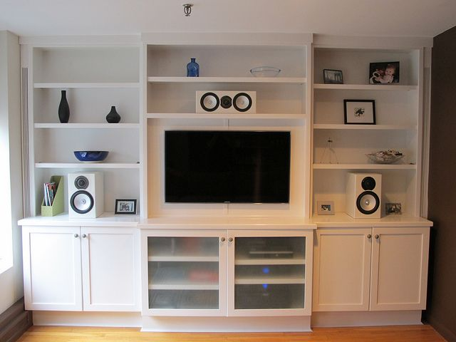 Wall Unit with flat screen TV. Designed and built by New York Design ...