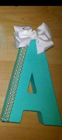 Bows and Pearl Tiffany's Inspired Sorority Letters by GlitzPaddlez, $30.00