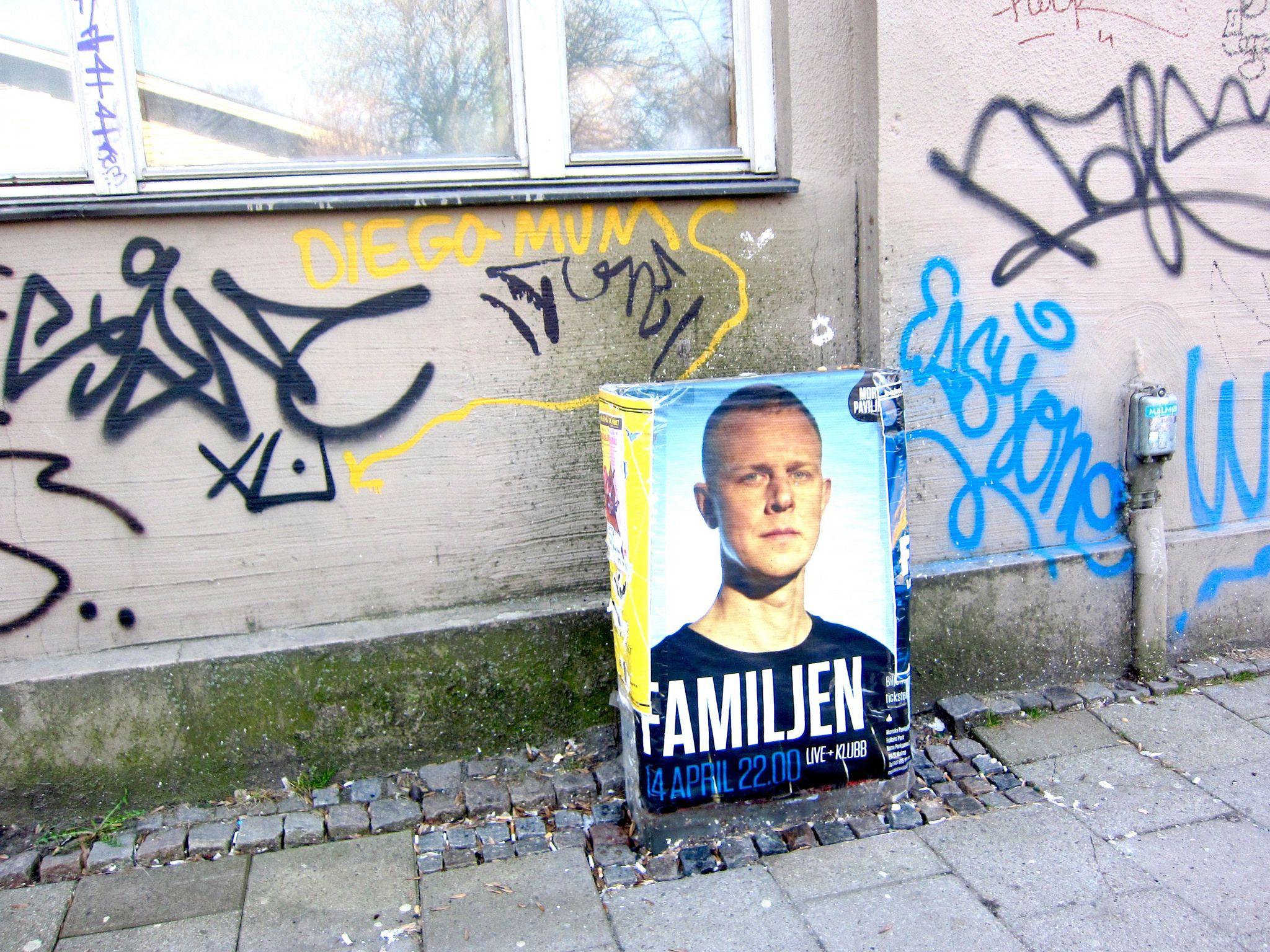 Street Poster Tag Graffiti Pavement Side Walk Guy Sprayed