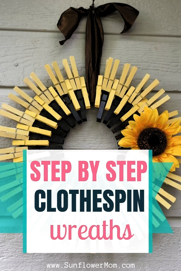 Photo of How to make a clothespin wreath. DIY instructions to make it your own: springtim…