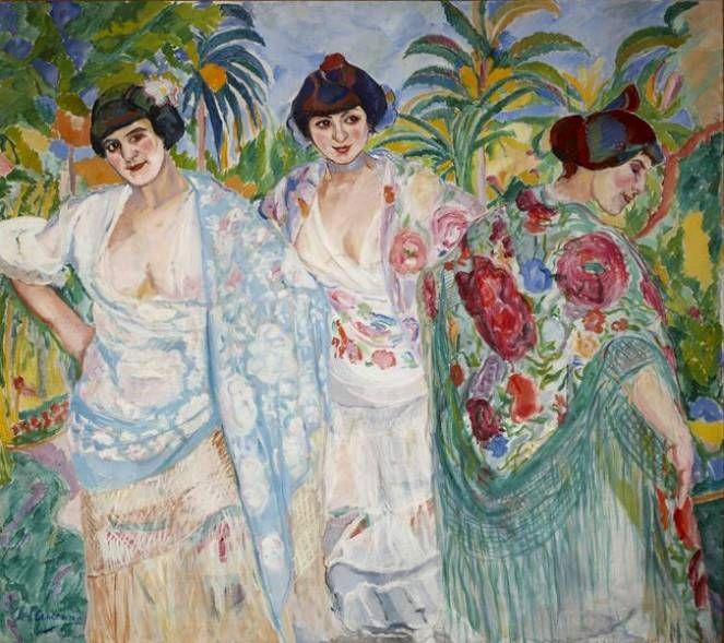 Mujeres con Mantón - Francisco Iturrino Gonzalez - Galeria Lorenart